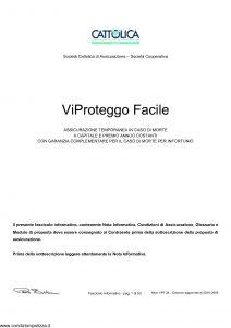 Cattolica - Vi Proteggo Facile - Modello vpf 28 Edizione 02-01-2008 [33P]