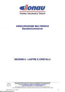 Donau - Multirischi Danubio Commercio Lastre Cristalli - Modello Donit 106 Edizione 12-2010 [5P]