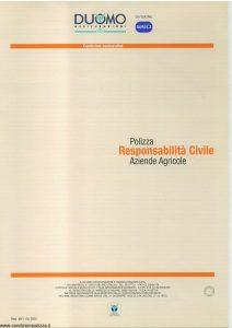 Duomo - Polizza Responsabilita' Civile Aziende Agricole - Modello 49-1 Edizione 2002 [6P]