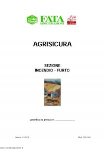 Fata - Agrisicura Sezione Incendio Furto - Modello 781-50-01 Edizione 01-2004 [18P]