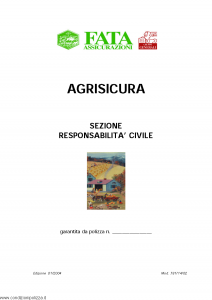 Fata - Agrisicura Sezione Responsabilita' Civile - Modello 781-14-02 Edizione 01-2004 [5P]