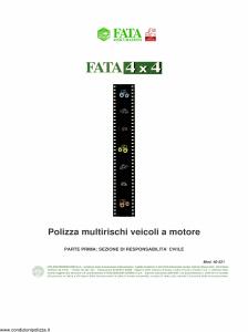 Fata - Fata 4X4 Parte Prima Sezione Responsabilita' Civile - Modello 40-521 Edizione nd [24P]