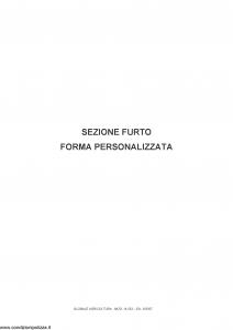 Fata - Globale Agricoltura Sezione Furto Forma Personalizzata - Modello 14533 Edizione 06-2007 [14P]