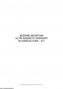 Fata - Globale Agricoltura Sezione Infortuni Altri Soggetti Operanti In Agricoltura 211 - Modello 14533 Edizione 06-2007 [13P]
