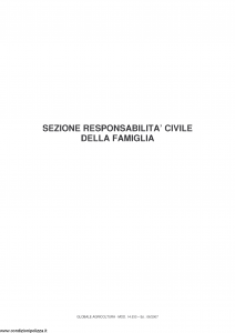 Fata - Globale Agricoltura Sezione Rc Della Famiglia - Modello 14.533 Edizione 06-2007 [7P]