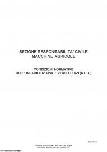 Fata - Globale Agricoltura Sezione Responsabilita' Civile Macchine Agricole - Modello 14533 Edizione 01-2009 [6P]