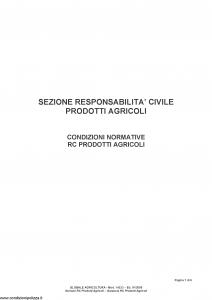 Fata - Globale Agricoltura Sezione Responsabilita' Civile Prodotti Agricoli - Modello 14.533 Edizione 01-2009 [6P]