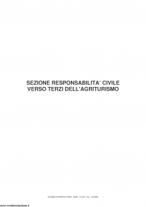 Fata - Globale Agricoltura Sezione Responsabilita' Civile Verso Terzi Dell'Agriturismo - Modello 14.533 Edizione 05-2008 [9P]