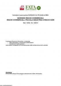 Fata - Incendio Rischi Commerciali - Modello 12-522 Edizione 12-2010 [42P]