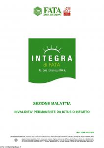 Fata - Integra Di Fata Sezione Malattia Invalidita' Permanente Da Ictus O Infarto - Modello 39-560 Edizione 02-2010 [6P]