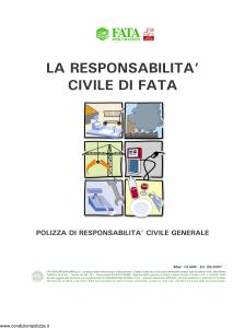 Fata - La Responsabilita' Civile Di Fata Farmacie - Modello 14-506 Edizione 05-2007 [14P]