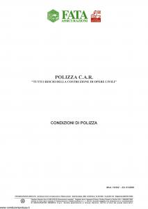 Fata - Polizza C.A.R. - Modello 12-542 Edizione 01-2009 [25P]