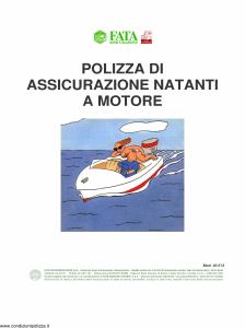 Fata - Polizza Di Assicurazione Natanti A Motore - Modello 40-513 Edizione nd [7P]