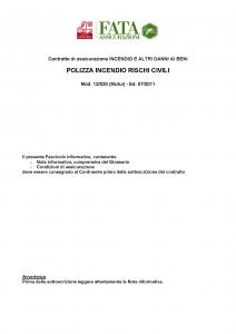 Fata - Polizza Incendio Rischi Civili - Modello 12-520 Edizione 07-2011 [37P]