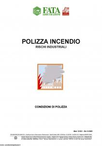 Fata - Polizza Incendio Rischi Industriali - Modello 12-523 Edizione 01-2009 [29P]