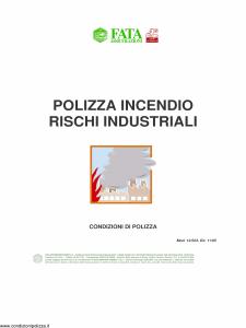 Fata - Polizza Incendio Rischi Industriali - Modello 12-523 Edizione 11-2005 [29P]