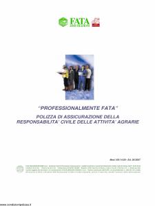 Fata - Professionalmente Fata Rc Delle Attivita' Agrarie - Modello 150-14-20 Edizione 05-2007 [18P]