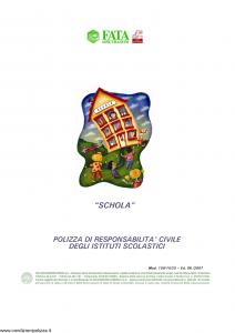 Fata - Schola Polizza Infortuni Cumulativa Istituti Scolastici - Modello 150-14-25 Edizione 06-2007 [12P]