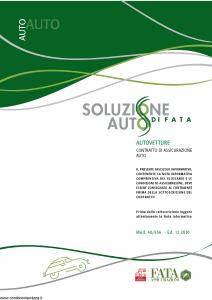 Fata - Soluzione Auto Di Fata Autovetture - Modello 40-556 Edizione 12-2010 [52P]