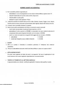 Fata - Tariffa Corpi Veicoli Terrestri Norme E Tariffe - Modello nd Edizione 07-2009 [18P]