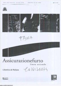 Fondiaria Sai - Assicurazione Furto Linea Aziende - Modello nd Edizione 10-2009 [SCAN] [9P]