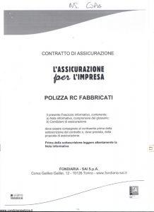 Fondiaria Sai - Assicurazione Per L'Impresa Polizza Rc Fabbricati - Modello 10696 Edizione 12-2010 [SCAN] [19P]