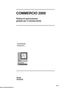 Fondiaria Sai - Commercio 2000 Polizza Globale Per Il Commerciante Informativa - Modello nd Edizione 06-2006 [4P]