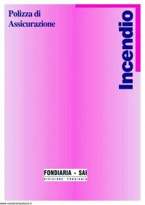 Fondiaria Sai - Incendio Polizza Di Assicurazione - Modello 1-6624-9 Edizione 09-1998 [4P]