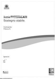 Fondiaria Sai - La Mia Assicurazione Fabbricati Sostegno Stabile - Modello 11342 Edizione 11-2006 [50P]