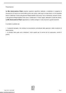Fondiaria Sai - La Mia Assicurazione Rc Piu' Informativa - Modello 11351 Edizione 01-2007 [66P]