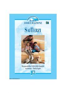 Fondiaria Sai - La Mia Assicurazione Sai Terzi Responsabilita' Civile Della Famiglia - Modello nd Edizione 03-2003 [23P]