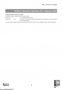 Fondiaria Sai - Rc Imprese Edili Tariffa - Modello 1.11416.3s Edizione 03-2012 [11P]