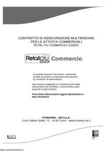 Fondiaria Sai - Retail Piu' Commercio Classic - Modello 1932 Edizione 07-2011 [73P]