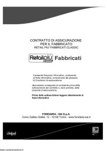 Fondiaria Sai - Retail Piu' Fabbricati Classic - Modello 1934 Edizione 04-2013 [50P]