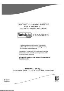 Fondiaria Sai - Retail Piu' Fabbricati Classic - Modello 1934 Edizione 11-2011 [48P]