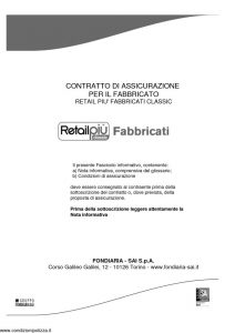 Fondiaria Sai - Retail Piu' Fabbricati Classic - Modello 1934 Edizione 12-2010 [90P]