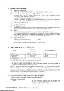 Generali - 175 Special Bonus Contratto Di Assicurazione A Vita Intera - Modello gv175sb Edizione 01-2013 [36P]