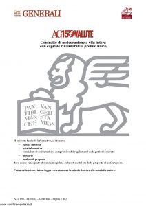 Generali - Ag150 Valute Contratto Di Assicurazione A Vita Intera - Modello gvag150val Edizione 01-01-2014 [30P]