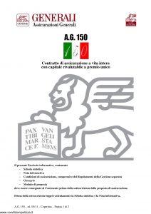 Generali - Ag150 Valute Contratto Di Assicurazione A Vita Intera - Modello gvag150val Edizione 05-2011 [28P]