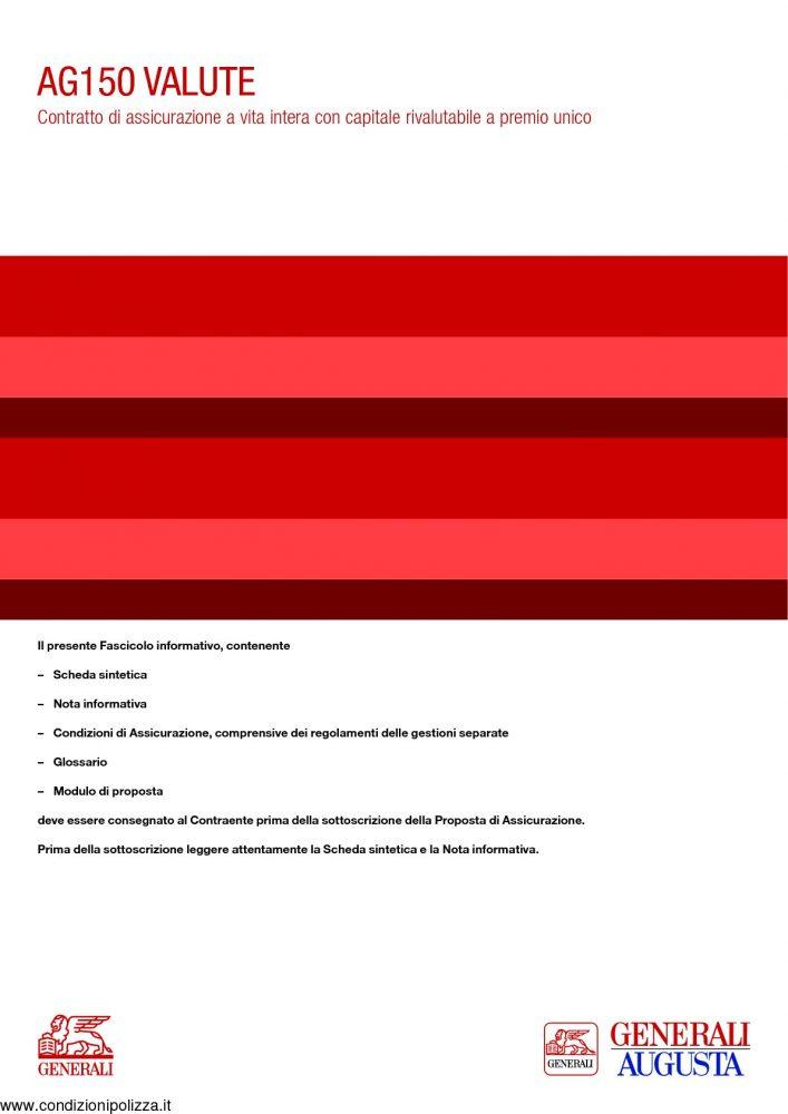 Generali ag150 valute contratto di assicurazione a vita for Allianz condizioni generali di assicurazione