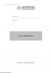 Generali - Al Completo - Modello vo06-01 Edizione nd [32P]