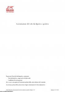 Generali - Assicurazione Del Volo Da Diporto O Sportivo - Modello dps04cga Edizione 01-07-2013 [31P]