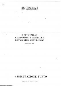 Generali - Assicurazione Furto - Modello nd Edizione 05-1999 [SCAN] [20P]