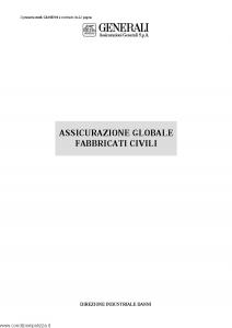 Generali - Assicurazione Globale Fabbricati Civili - Modello gl01e-01 Edizione nd [SCAN] [22P]