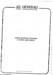 Generali - Assicurazione Incendio E Furto Abitazioni - Modello faif02 Edizione 07-1987 [SCAN] [16P]
