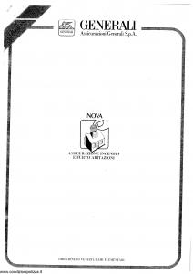 Generali - Assicurazione Incendio E Furto Abitazioni - Modello nova08 Edizione 07-1988 [SCAN] [14P]