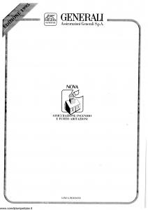 Generali - Assicurazione Incendio E Furto Abitazioni - Modello nova09-50 Edizione 03-1995 [SCAN] [20P]