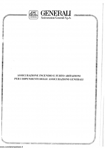 Generali - Assicurazione Incendio E Furto Abitazioni - Modello re13-10 Edizione 07-1993 [SCAN] [14P]