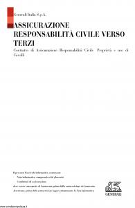 Generali - Assicurazione Responsabilita' Civile Verso Terzi - Modello r14 Edizione 25-07-2015 [17P]