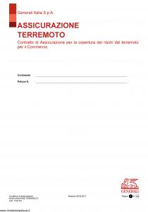 Generali - Assicurazione Terremoto - Modello tc01-03 Edizione 08-04-2017 [14P]